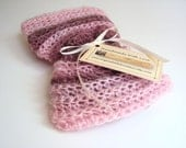 Crochet Baby Cocoon Bowl/ Pink Brown Cocoon/ Mohair Yarn/ Ready to Mail