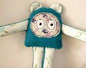 HugBear vintage reclaimed fabric softie toy