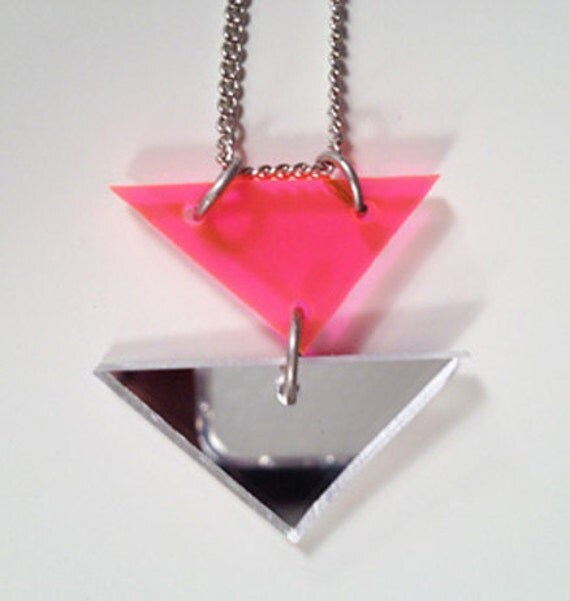 Acrylic perspex triangle necklace