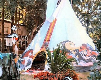 22 foot Hand Painted Tipi