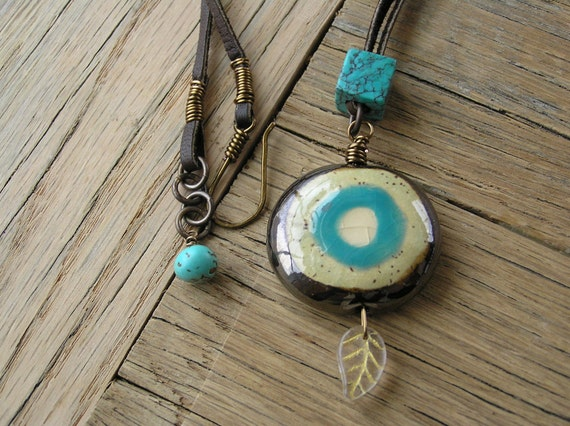 Kazuri Bead Necklace, Turquoise Necklace, Fair Trade Jewelry, African Jewelry
