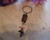 Mens Army Pin Up Girl Keychain
