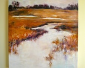 Landscape (11 X 11)  ART PRINT of Original Oil Painting  by the artist Diane Borg