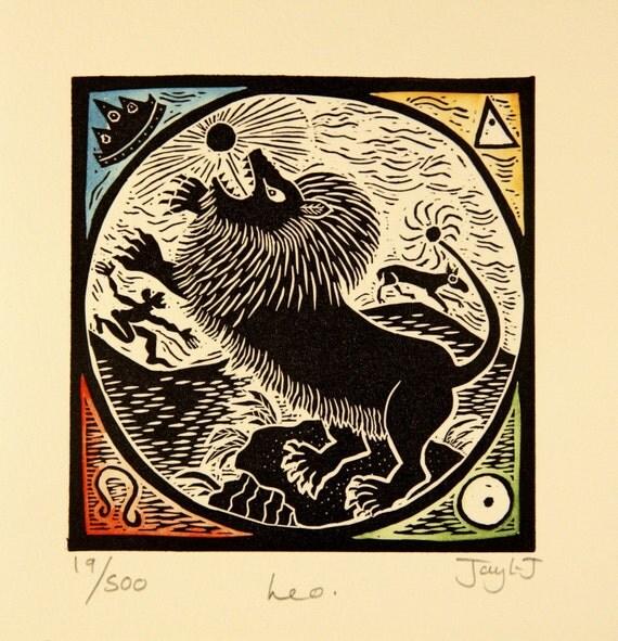 Leo Zodiac  card.