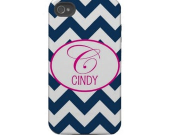 Personalized Cell Phone Cases with Monogram - iPhone 5, 6s- Chevron