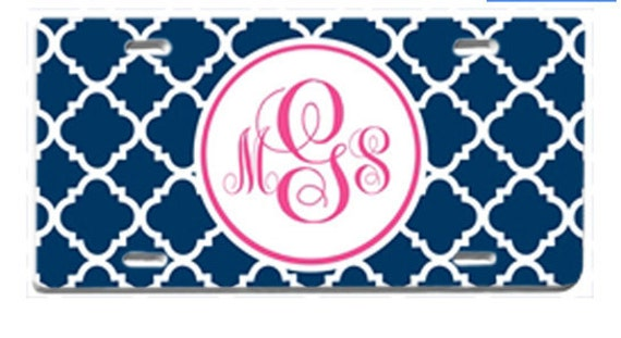 Personalized License Plate, Monogram Car Tag, Monogrammed Front License Plate, Teen Gift, Sweet 16 gift