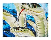 The Serpents, Photo Print, blue, photography print, archival pigment inks, 12 x 16