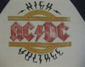 Original AC/DC vintage 1979 tour SHIRT jersey