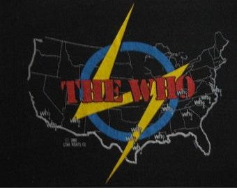 Original THE WHO vintage 1980 tour TSHIRT
