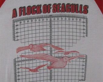 Original FLOCK of SEAGULLS vintage 1983 tour TSHIRT