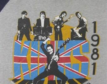 Original THE KINKS vintage 1981 tour TSHIRT