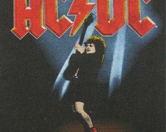Original AC/DC vintage 1986 tour SHIRT jersey