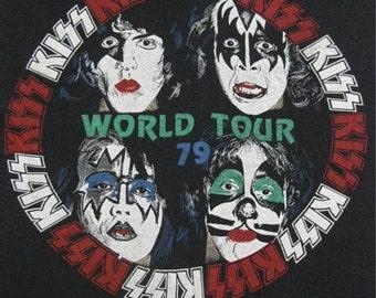 Original KISS SECURITY vintage 1978 tour SHIRT