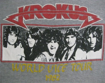 Original KROKUS vintage 1982 tour SHIRT