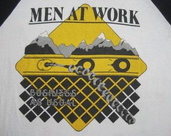 Original MEN at WORK vintage 80s tour TSHIRT