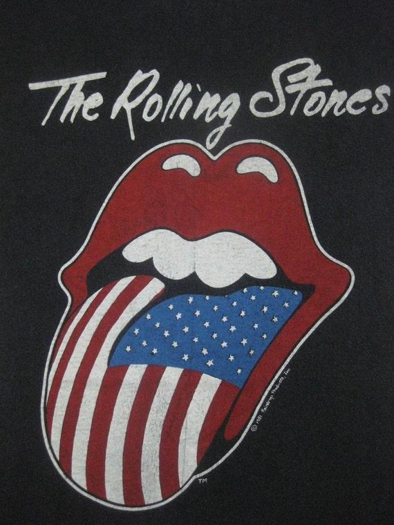 Vintage ROLLING STONES 1981 tour SHIRT concert tee L-