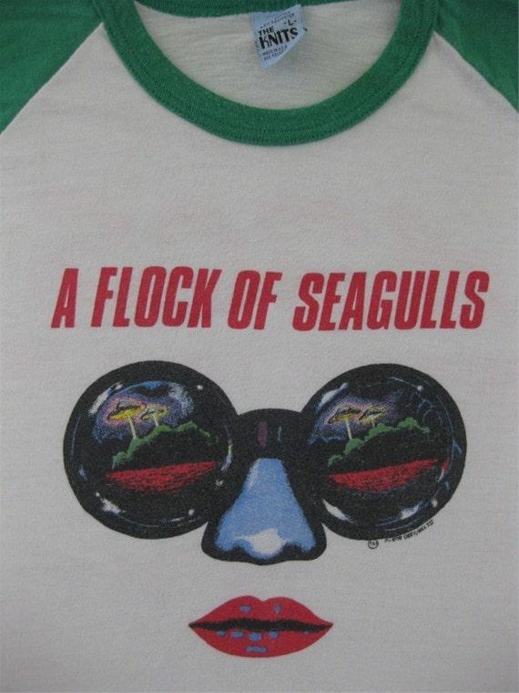 Vintage FLOCK OF SEAGULLS 1982 tour shirt concert jersey tee