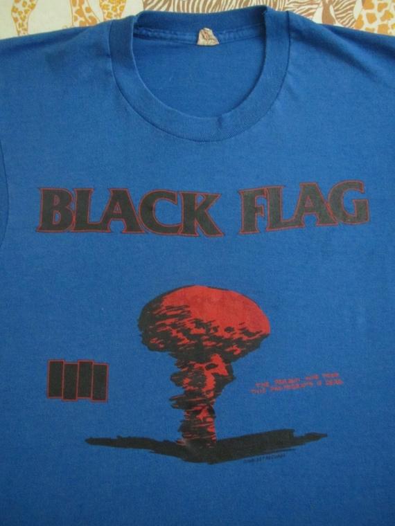 Original BLACK FLAG vintage 1986 tour T SHIRT