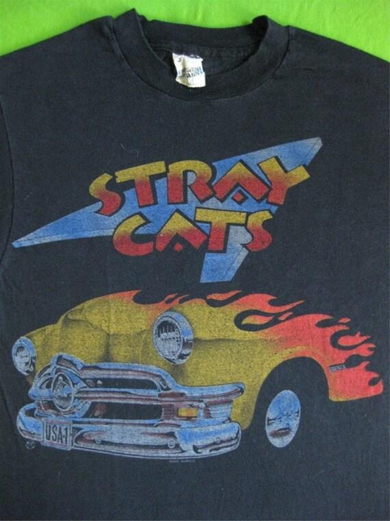Original STRAY CATS 1983 vintage tour TSHIRT small