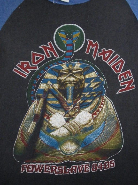 Original IRON MAIDEN Twisted Sister vintage 80s TSHIRT