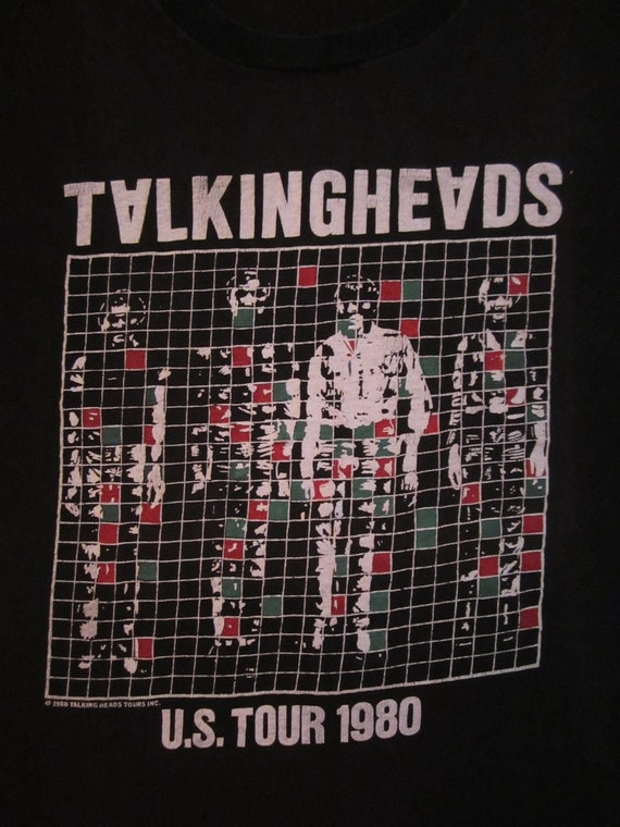 Original TALKING HEADS 1980 tour TSHIRT