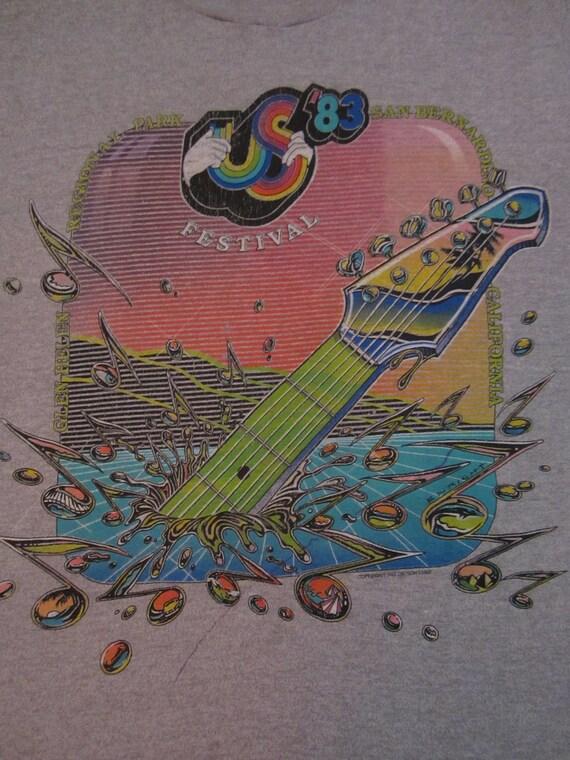 Original US FESTIVAL vintage 1983 concert TSHIRT