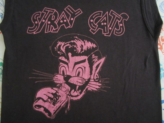 Original STRAY CATS vintage 1982 tour TSHIRT