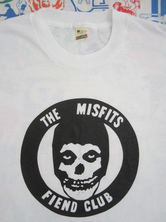 Original THE MISFITS fiend club vintage 80s T SHIRT Danzig