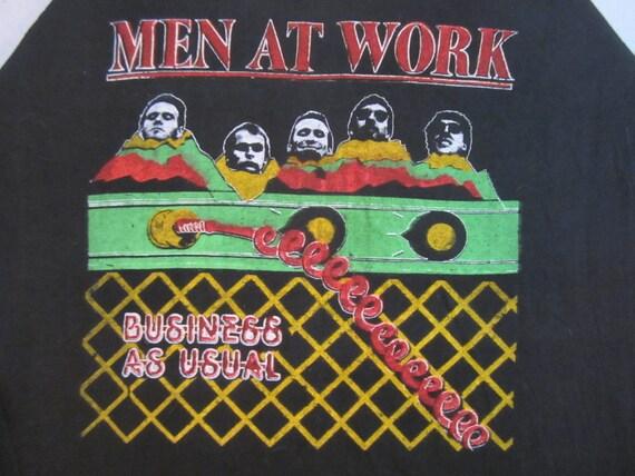 Originl MEN at WORK vintage 80s SHIRT