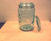 Atlas Mason Jar with Glass Lid