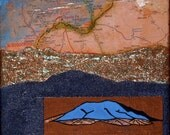 Northern New Mexico, mixed-media/acrylic on canvas, map art