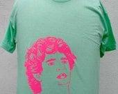 Maradona Tshirt- Pink on Emerald Green ( Men's S, M, L, XL)