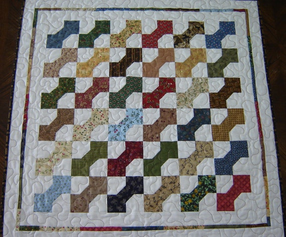 Bow Tie patchwork Quilt Table Runner