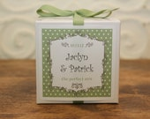 12 Personalized Favor Boxes - Breanne Design in Sage - wedding favors, party favors, baby shower favors, bridal shower favors