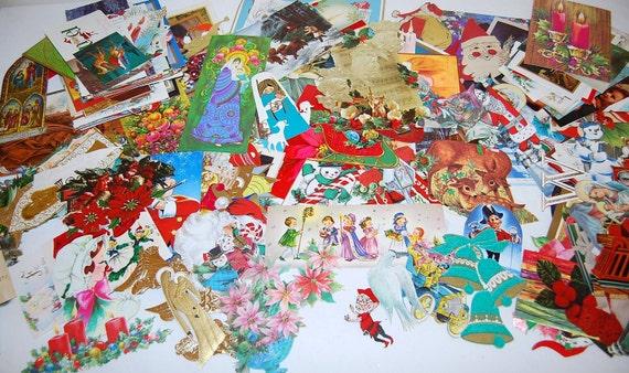 Christmas Pieces  Ephemera Lot