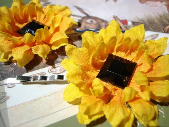 Sunflower Bobby Pin Set