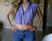 Crop Top Button Up Size Small