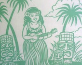 Hula Girl  Pillowcase Set