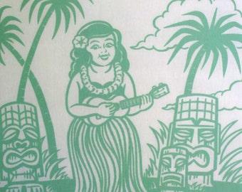 Hula Girl  Pillowcase Set