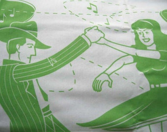 Swing Time Pillowcases in Lime Green