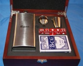 Rosewood Flask Gift Set