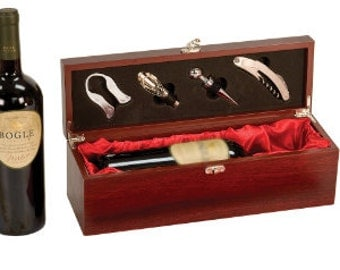 Rosewood Wine Box with Tools