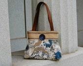 Handbag Purse Everyday bag : Blue Jean Garden