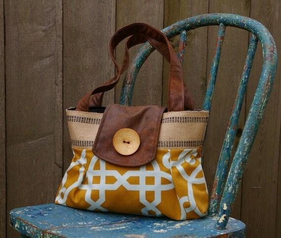 Handbag Purse Everyday Bag : Old World