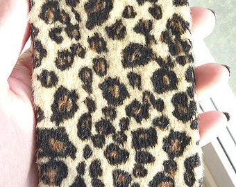 SUPER SOFT Faux Fur Leopard Iphone 4g 4s case for  AT&T Verizon Sprint Phone