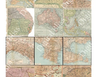 Map Download, Old World Maps, Digital Download, Digital Art, Europe Map, World Map Digi, Ephemera, Scrapbook Embellishment, Digital Card