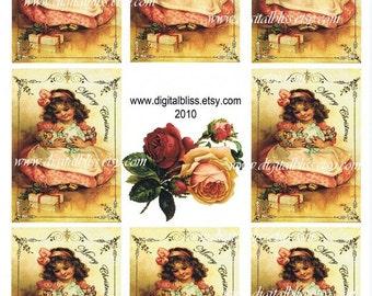 Digital Download Babydoll Gift Tag ATC ECS