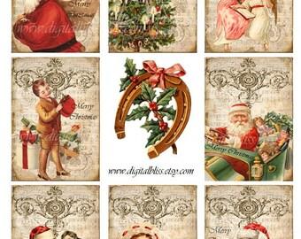 Digital Download Ornate Christmas Gift Tags ATC ECS
