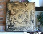Huge Genuine Antique Ceiling Tin Wall Art