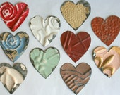 Genuine Antique Ceiling Tin Heart Shapes For Crafts